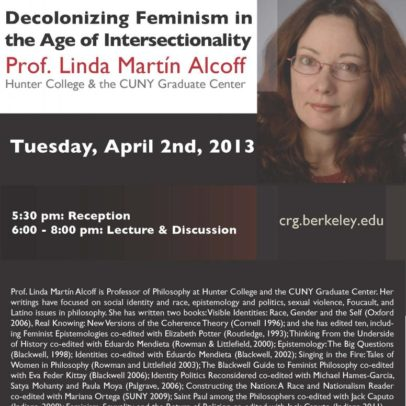 Decolonizing Feminism in the Age of Intersectionality, Linda Martín Alcoff