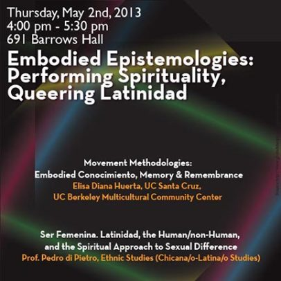 Embodied Epistemologies: Performing Spirituality, Queering Latinidad