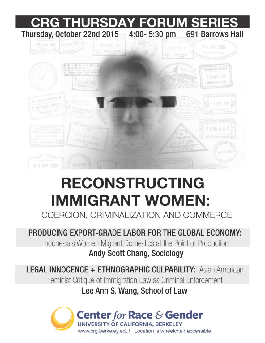 Reconstructing Immigrant Women: Coercion, Criminalization, & Commerce