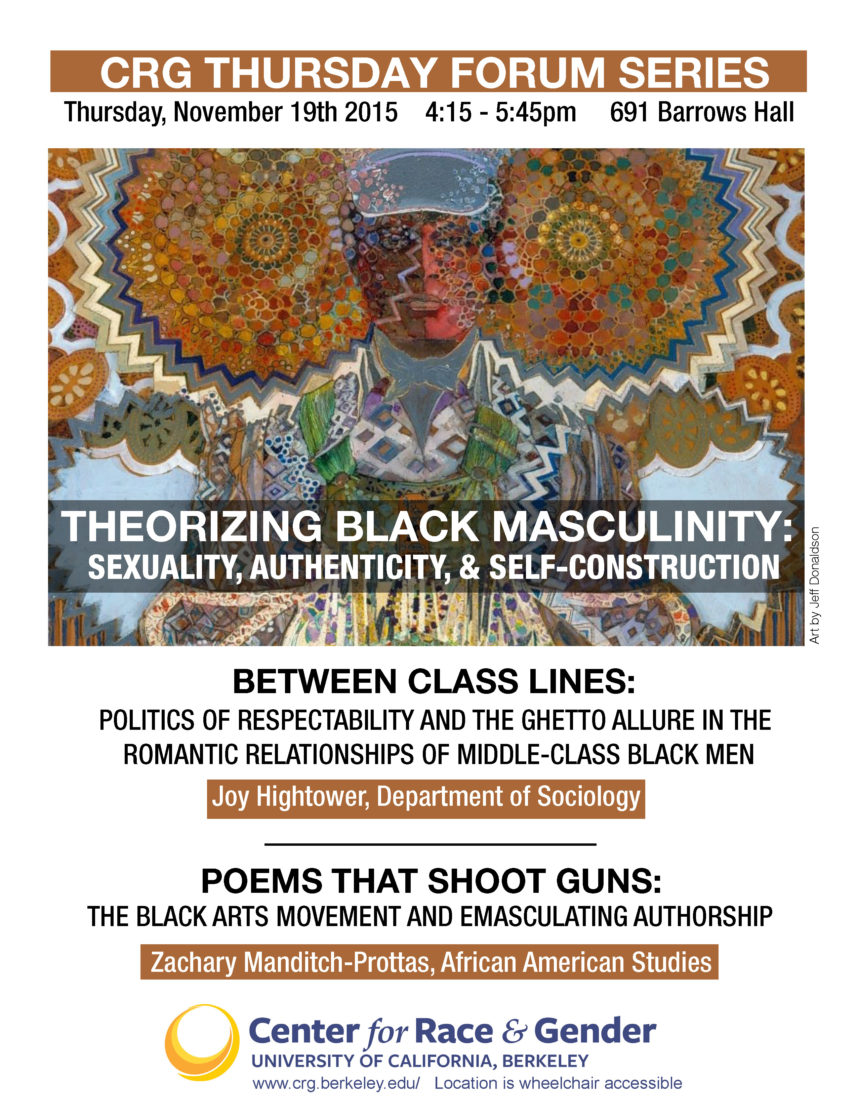 Theorizing Black Masculinity: Sexuality, Authenticity, & Self-Construction