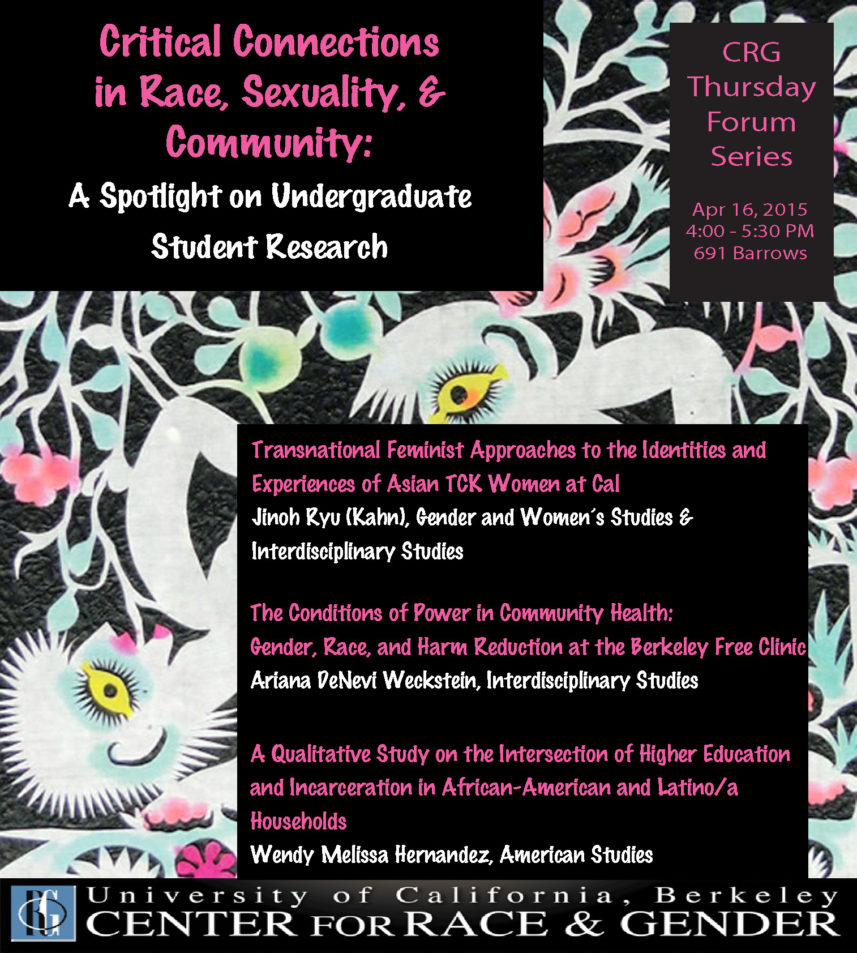 Critical Connections in Race, Sexuality, and Community: A Spotlight on Undergraduate Student Research