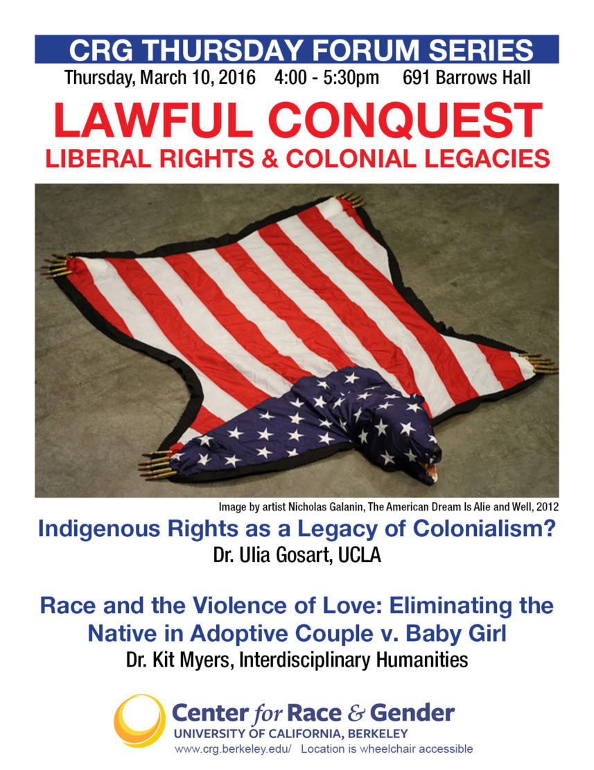 Lawful Conquest: Liberal Rights & Colonial Legacies