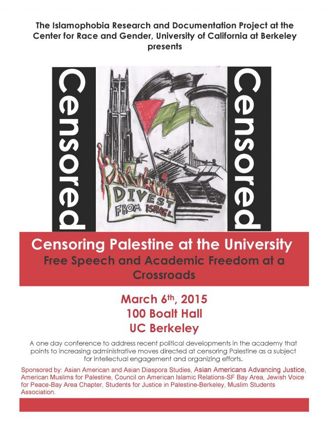 Censoring Palestine at the University