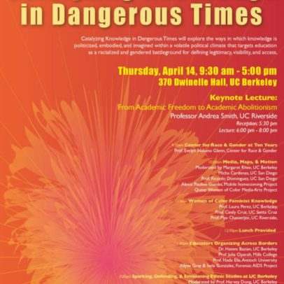 Conference Info – CATALYZING KNOWLEDGE IN DANGEROUS TIMES