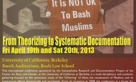 Fourth Annual International Conference on the Study of Islamophobia