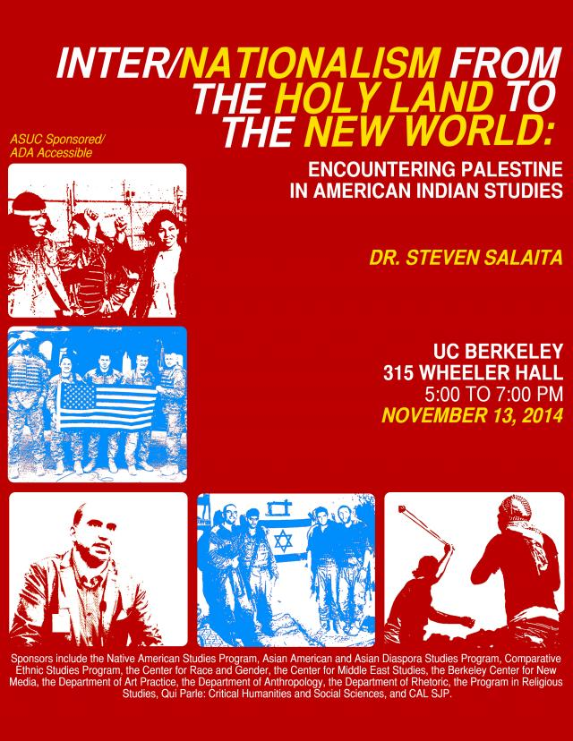 Steven Salaita: Inter/Nationalism from the Holy Land to the New World: Encountering Palestine in American Indian Studies