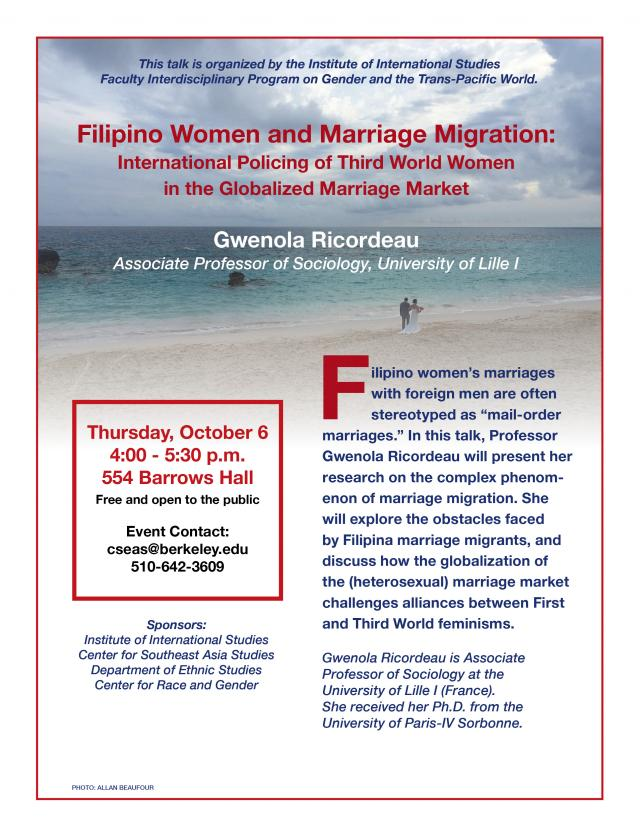 Filipino Women and Marriage Migration: International Policing of Third World Women in the Globalized Marriage Market