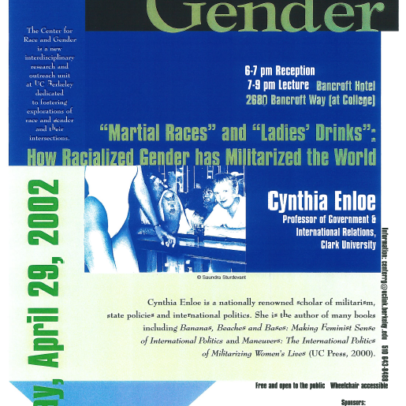 """Martial Races"" and ""Ladies' Drinks"": How Racialized Gender has Militarized the World, Cynthia Enloe"