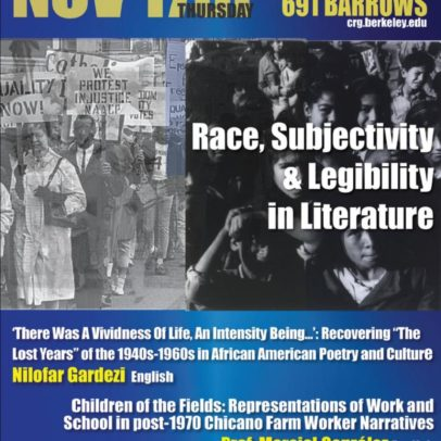 RACE, SUBJECTIVITY, & LEGIBILITY IN LITERATURE