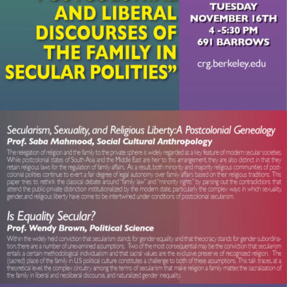 Postcolonial and Liberal Discourses of the Family in Secular Polities