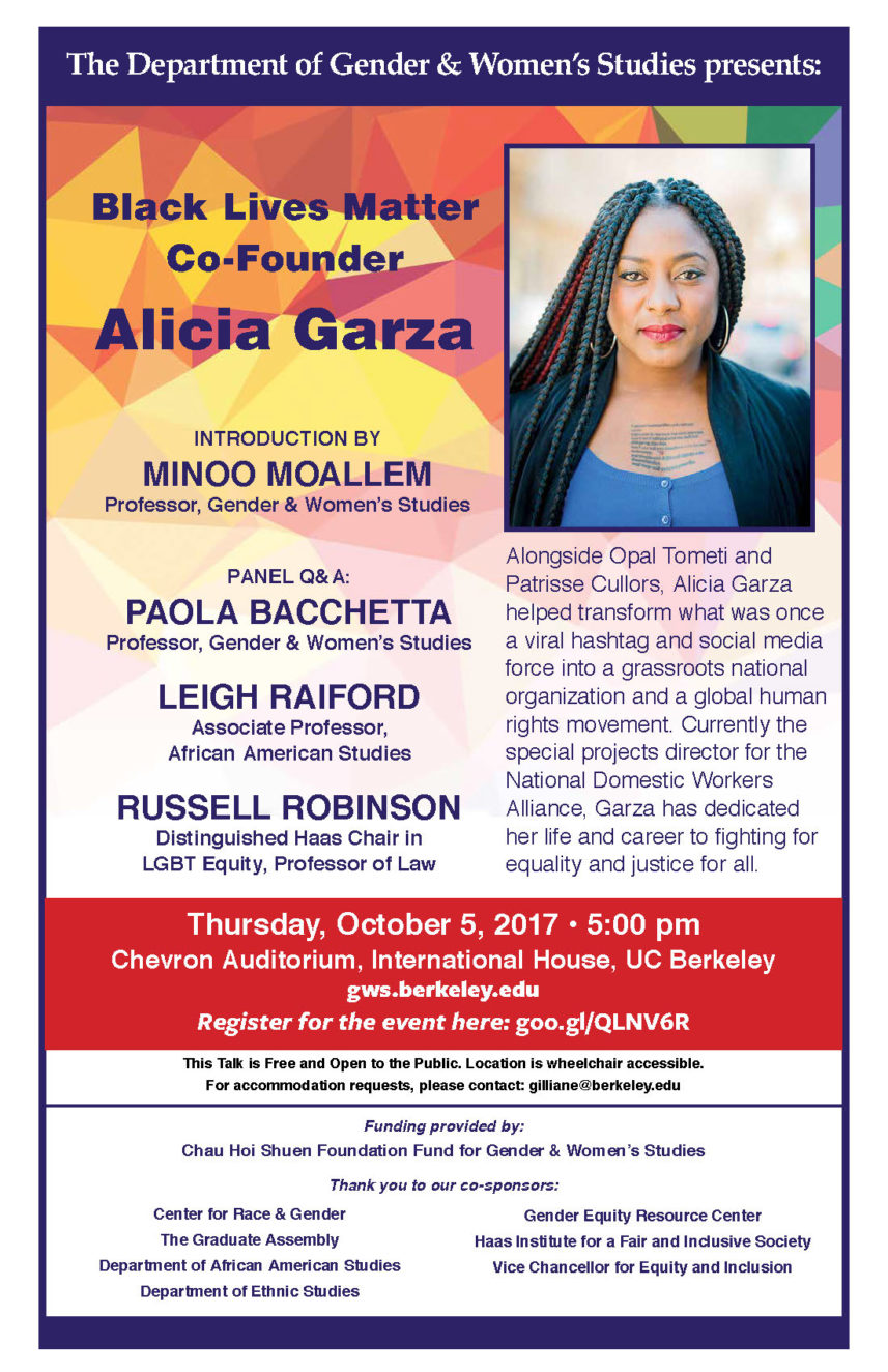 Alicia Garza Distinguished Lecture