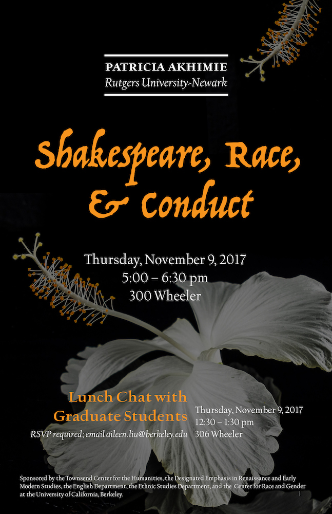 Shakespeare, Race, & Conduct