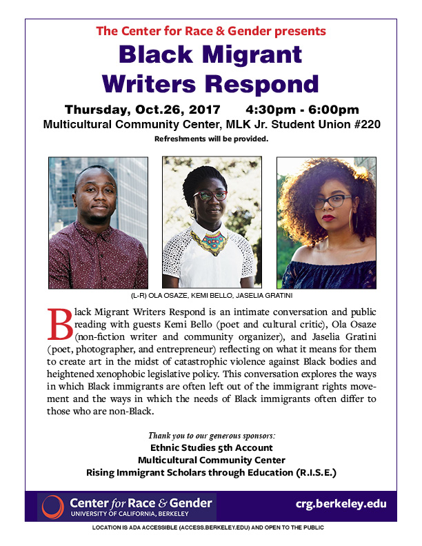 Black Migrant Writers Respond