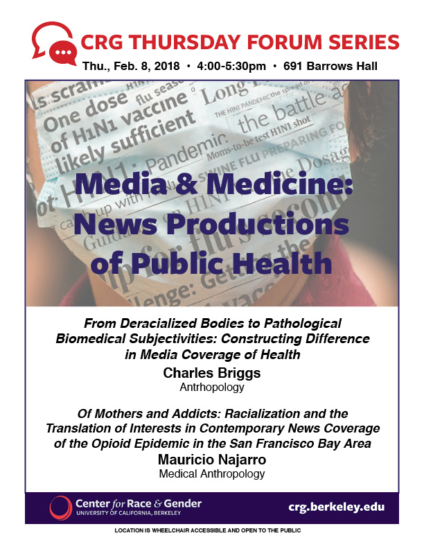 Media & Medicine: Racialized Productions of Public Health