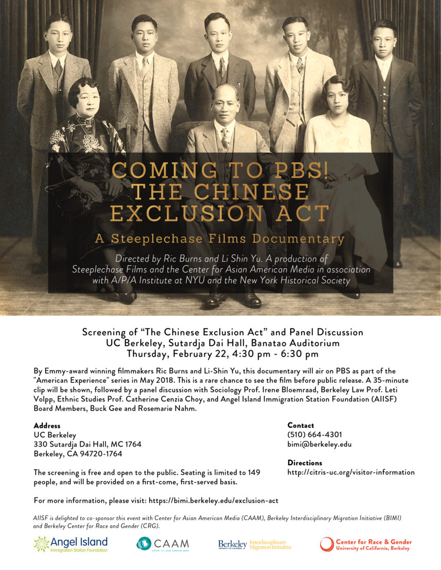 "Screening of ""The Chinese Exclusion Act"" and Panel Discussion"