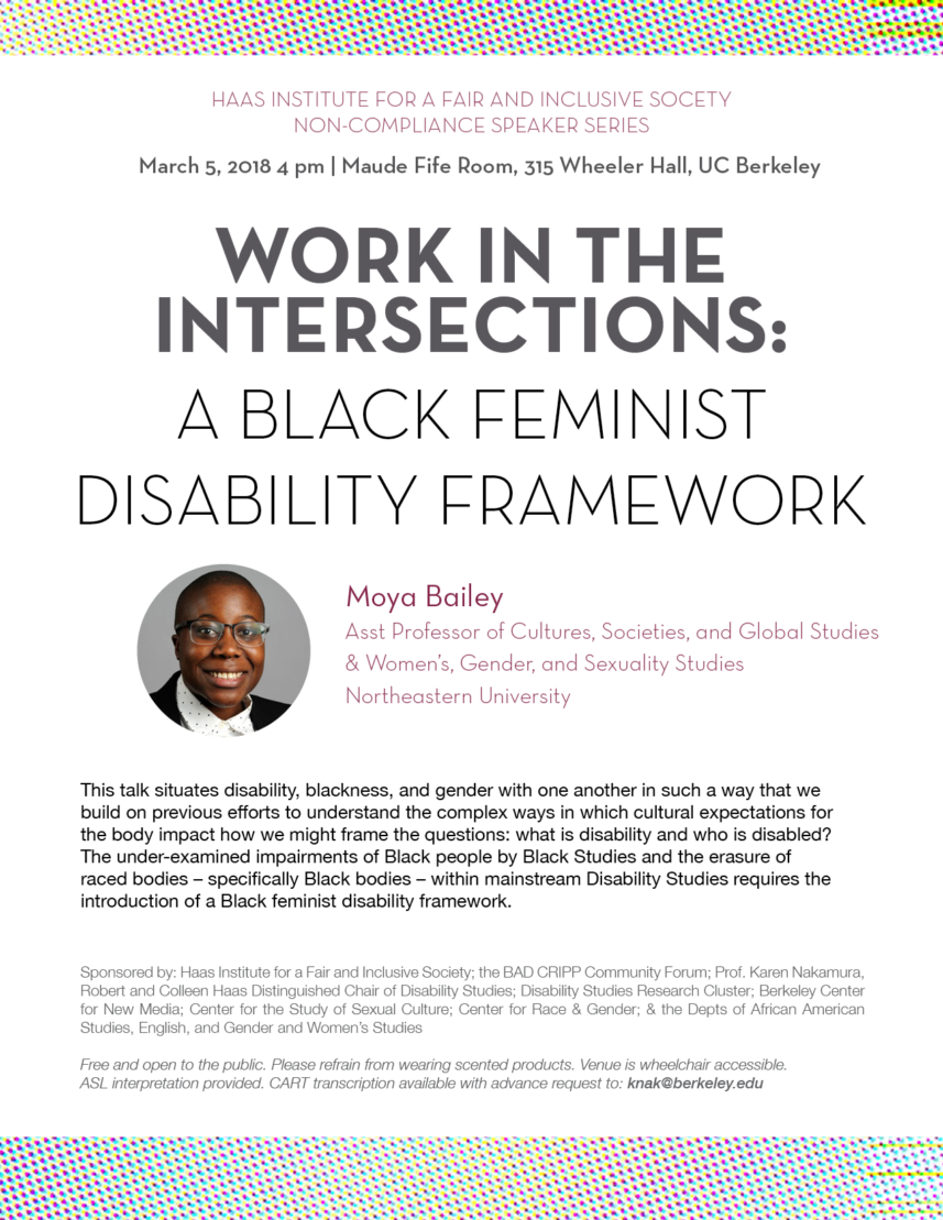 Work in the Intersections: A Black Feminist Disability Framework