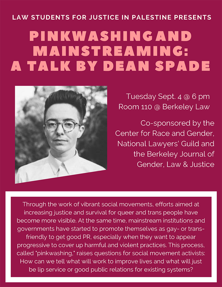 Pinkwashing and Mainstreaming: A Talk by Dean Spade