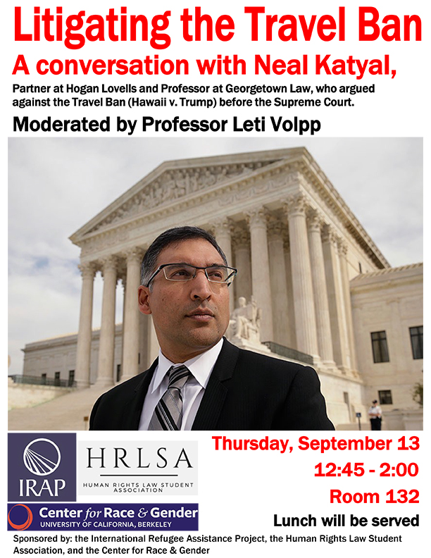 Litigating the Travel Ban: A Conversation with Neal Katyal