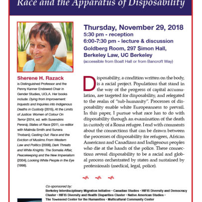Race and the Apparatus of Disposability