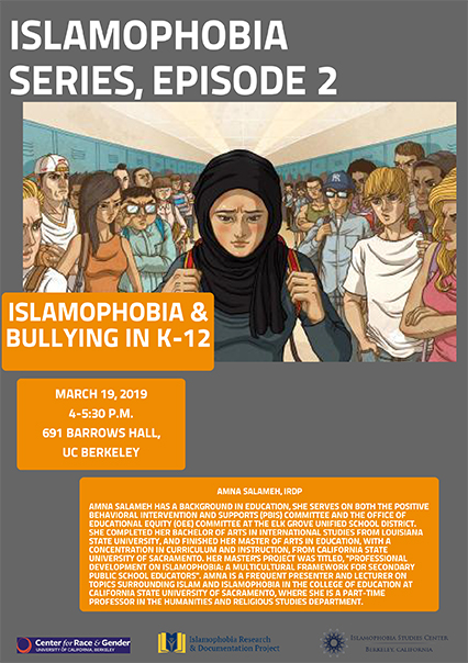 Islamophobia Series, Episode 2: Islamophobia & Bullying in K-12