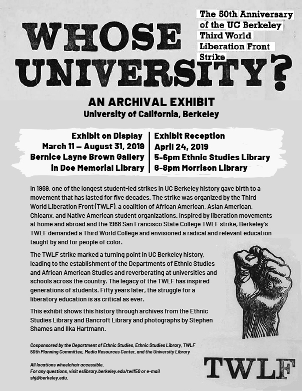 Exhibit Reception: Whose University? 50th Anniversary of TWLF