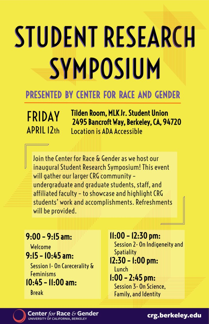 CRG Student Research Symposium 2019