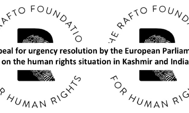 Appeal for Urgent Resolution in Kashmir and India Signed by Angana P. Chatterji