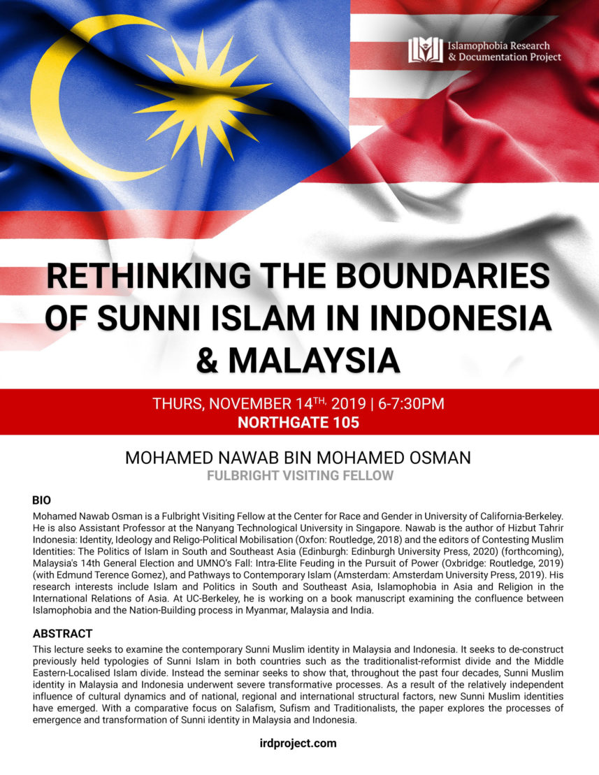 Rethinking the Boundaries of Sunni Islam in Indonesia & Malaysia