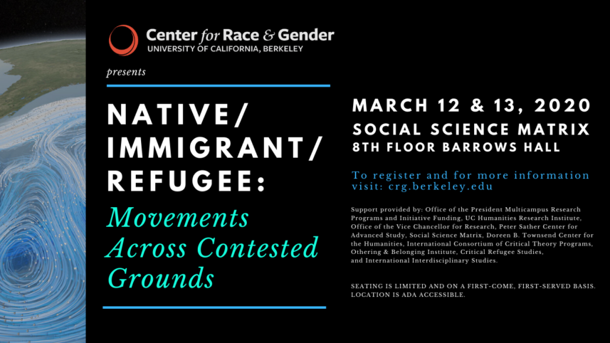 POSTPONED – Native/Immigrant/Refugee: Movements Across Contested Grounds Symposium