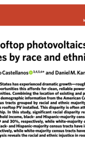 Disparities in rooftop photovoltaics deployment in the United States by race and ethnicity