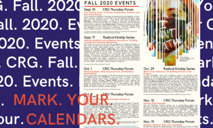 Mark Your Calendars – CRG's Fall 2020 Events
