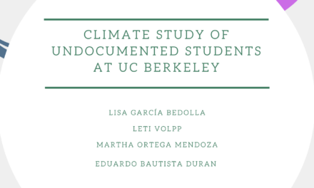 "Report Release ""Climate Study of Undocumented Students at UC Berkeley"""