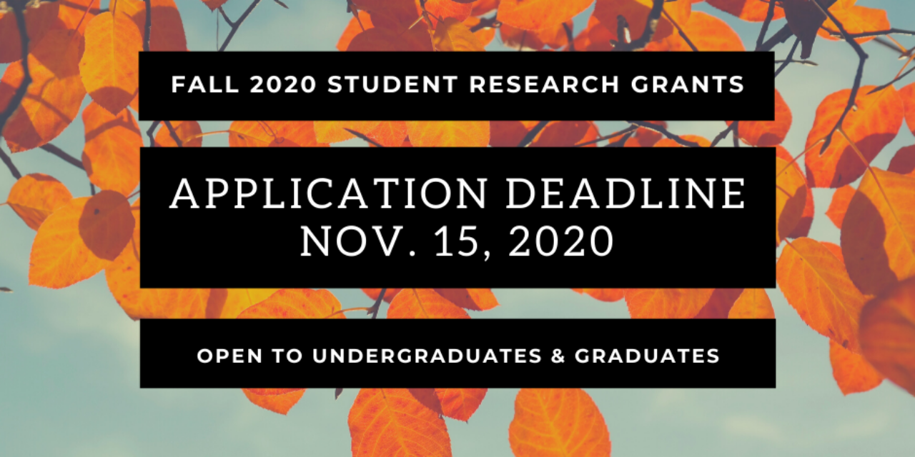 Fall 2020 Grants Deadline – Apply Now
