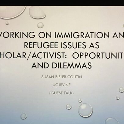 Working on Immigration and Refugee Issues as Scholar/Activist: Opportunities and Dilemmas