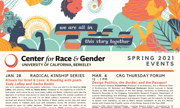 Mark Your Calendars – CRG's Spring 2021 Events