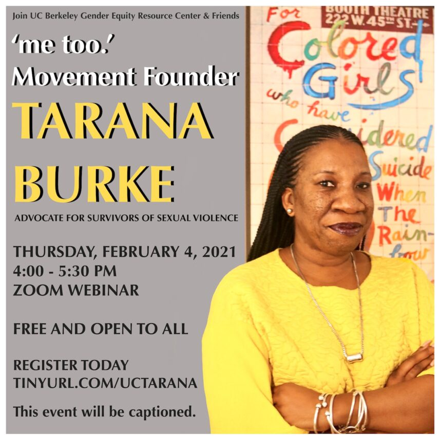 In Conversation with Tarana Burke, Founder of the 'me too.' Movement and advocate for survivors of sexual violence