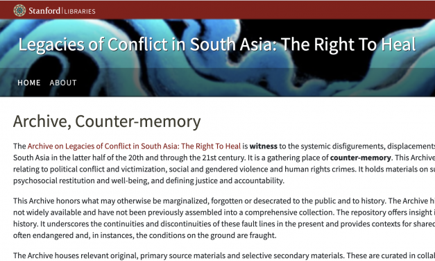 LEGACIES OF CONFLICT IN SOUTH ASIA: The Right to Heal