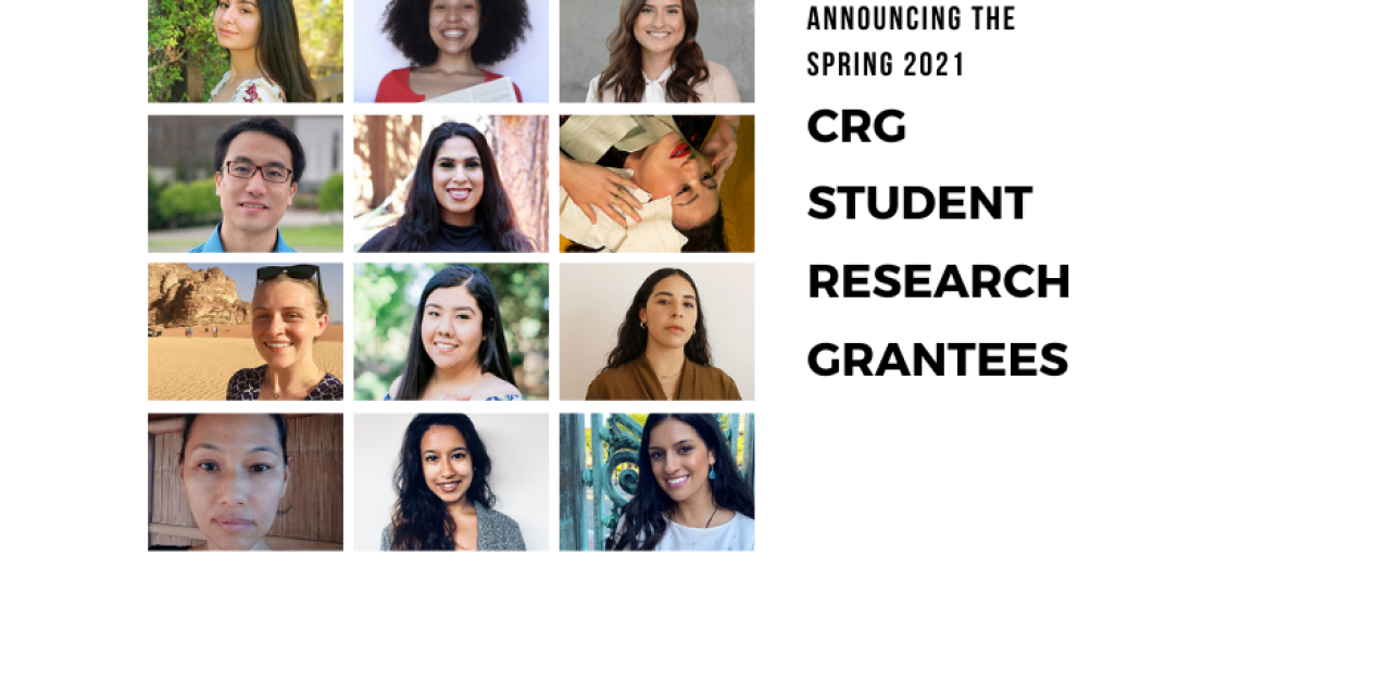 Announcing CRG's AY21-22 Research Working Groups and Spring 2021 CRG Student Research Grantees
