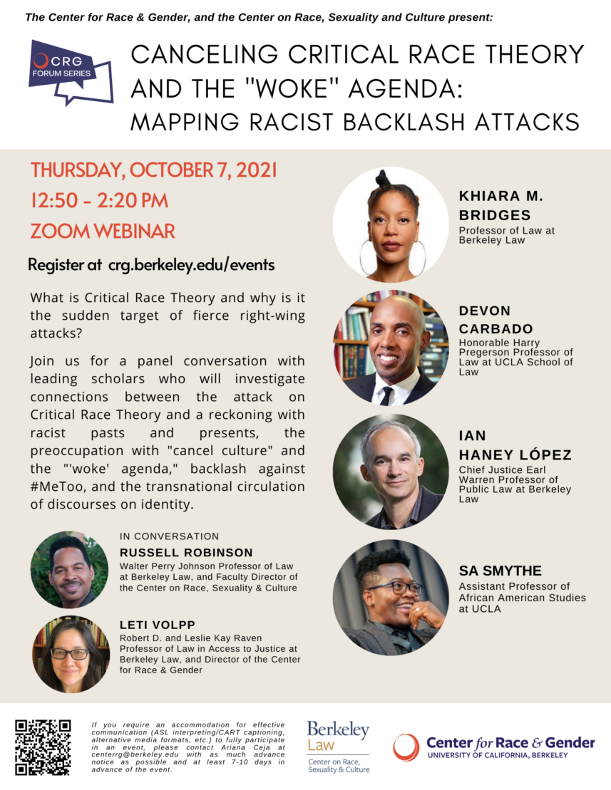 """Canceling Critical Race Theory and the """"Woke"""" Agenda: Mapping Racist Backlash Attacks"""